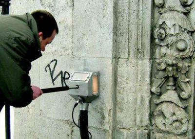 Odstranění graffiti z kamene 007