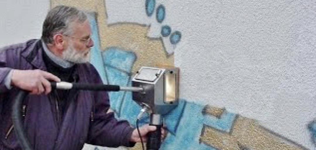 Odstranění graffiti z omítky