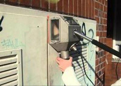 Odstranění graffiti z plotu 006