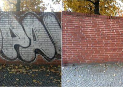 Odstranění graffiti ze zdi 002