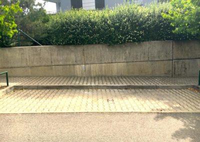 Odstranění graffiti ze zdi 005